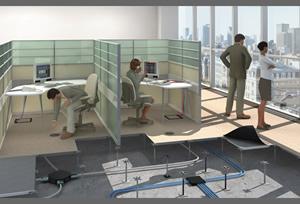 架空地板在现代化智能办公楼应用的优势